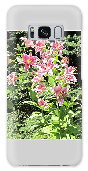 Pink Stargazer Lilies-greeting Card Galaxy Case