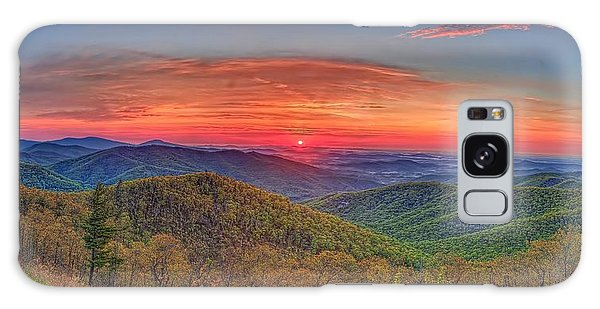 Pink Sunrise At Skyline Drive Galaxy Case