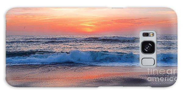 Pink Sunrise Panorama Galaxy Case by Kaye Menner