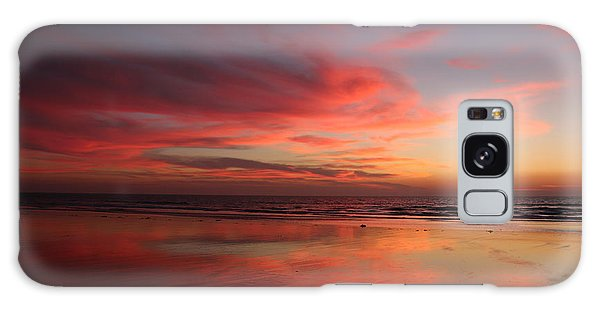 Ocean Sunset Reflected  Galaxy Case