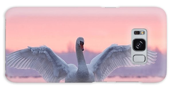 Bird Galaxy Case - Pink Swan by Roeselien Raimond