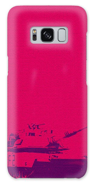Galaxy Case featuring the mixed media Pink Tank by Michelle Dallocchio