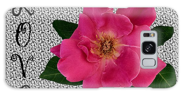 Pink Tea Rose Love Galaxy Case