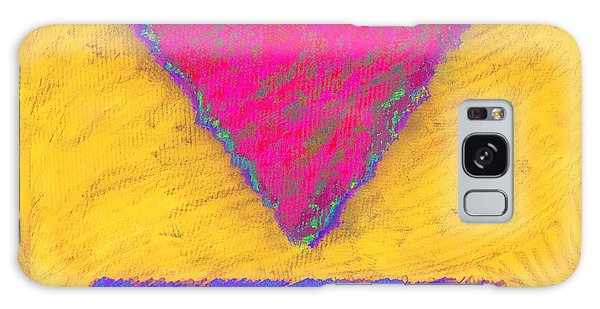 Pink Triangle On Yellow Galaxy Case