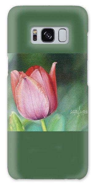 Pink Tulip Galaxy Case