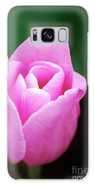 Pink Tulip Galaxy Case by Kathy Gibbons