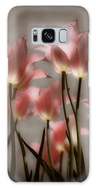 Pink Tulips Glow Galaxy Case