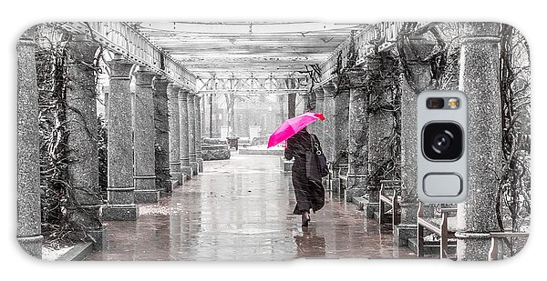 Pink Umbrella In A Storm Galaxy Case by Susan Cole Kelly Impressions