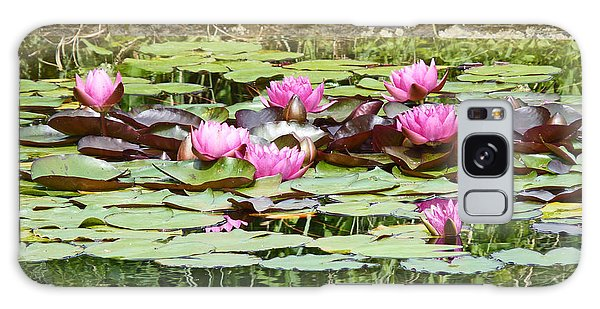 Pink Water Lilies Galaxy Case