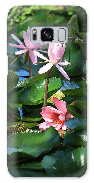 Pink Water Lillies Galaxy Case
