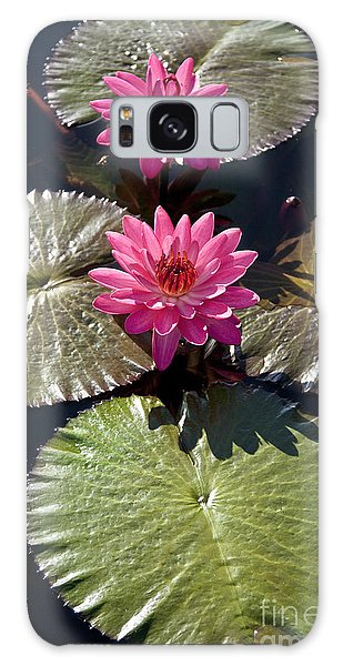 Galaxy Case featuring the photograph Pink Water Lily IIi by Heiko Koehrer-Wagner