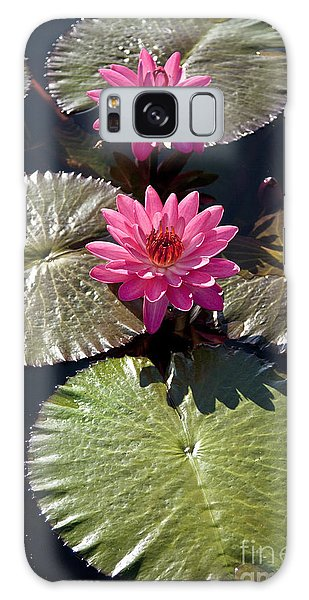 Pink Water Lily IIi Galaxy Case
