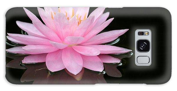 Pink Water Lily In A Dark Pond Galaxy Case
