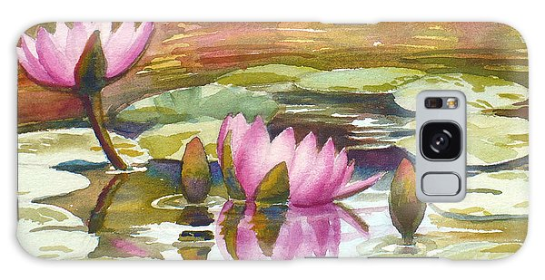 Pink Waterlilies Galaxy Case