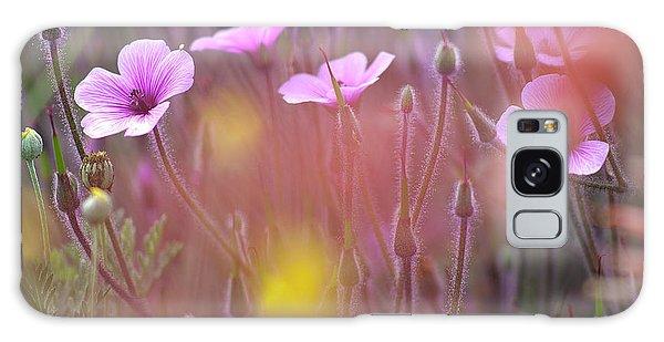 Pink Wild Geranium Galaxy Case