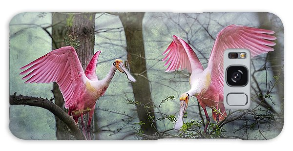 Pink Wings In The Swamp Galaxy Case