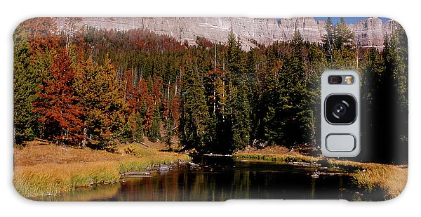 Pinnacle Buttes On Brooks Lake Creek Rocky Mountains Galaxy Case