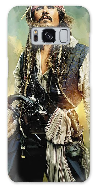 Pirates Of The Caribbean Johnny Depp Artwork 1 Galaxy S8 Case
