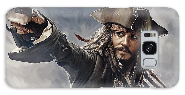 Pirates Of The Caribbean Johnny Depp Artwork 2 Galaxy S8 Case