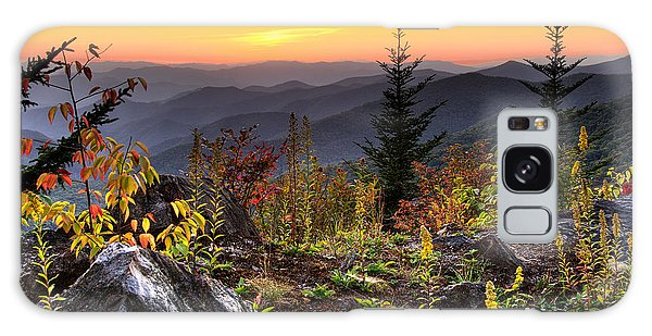 Pisgah Sunset - Blue Ridge Parkway Galaxy Case
