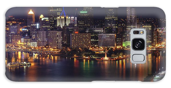Pittsburgh After The Setting Sun Galaxy Case by Michelle Joseph-Long