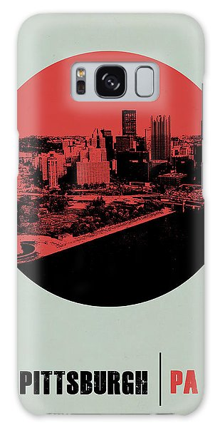 Downtown Galaxy Case - Pittsburgh Circle Poster 2 by Naxart Studio