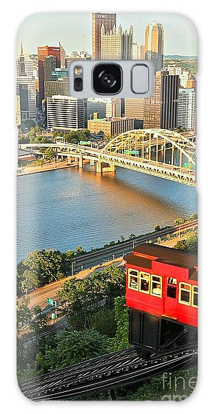 Pittsburgh Duquesne Incline Galaxy Case by Adam Jewell