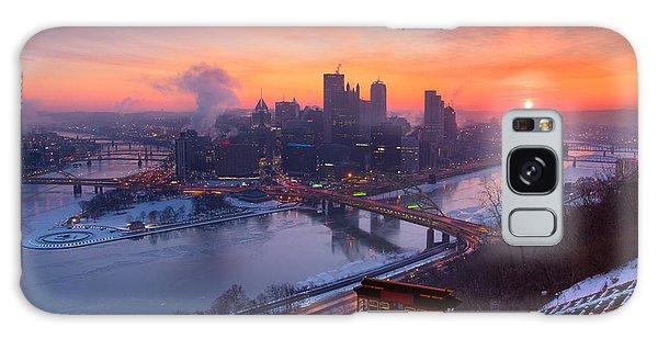 Pittsburgh Skyline Winter 2 Galaxy Case