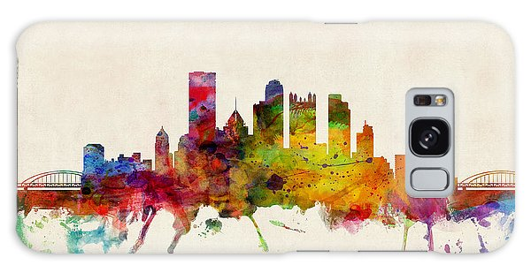 Cityscape Galaxy Case - Pittsburgh Pennsylvania Skyline by Michael Tompsett