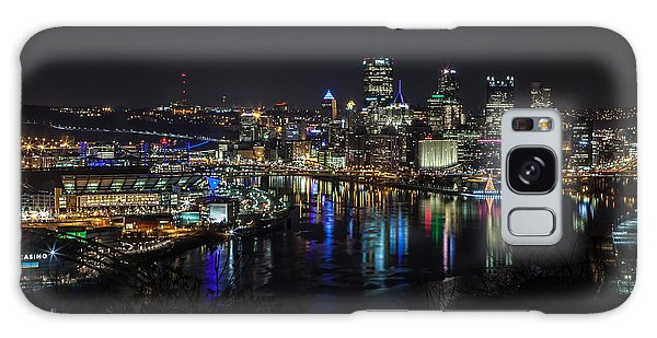 Pittsburgh Skyline At Night Galaxy Case