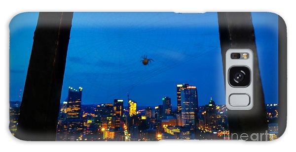 Pittsburgh Skyline At Night Galaxy Case