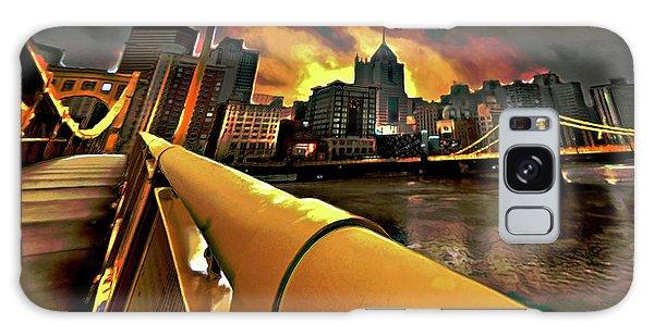 Center Galaxy Case - Pittsburgh Skyline by Fli Art