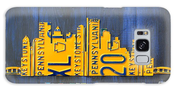 Recycle Galaxy Case - Pittsburgh Skyline License Plate Art by Design Turnpike