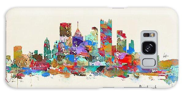 Pittsburgh Skyline Pennsylvania Galaxy Case by Bri B