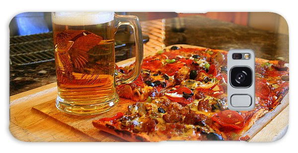 Pizza And Beer Galaxy Case by Kay Novy