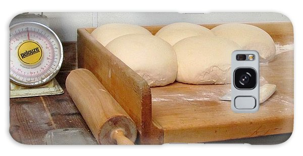 Pizza Dough Ready To Go Galaxy Case by Brenda Pressnall