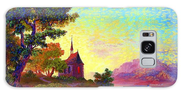 Beautiful Church, Place Of Welcome Galaxy Case by Jane Small