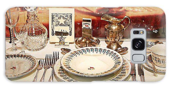 Place Setting Found In The Wreckage Of The Titanic Galaxy Case by Carrie OBrien Sibley