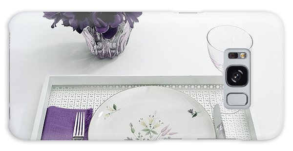 Place Setting With With Flowers Galaxy Case