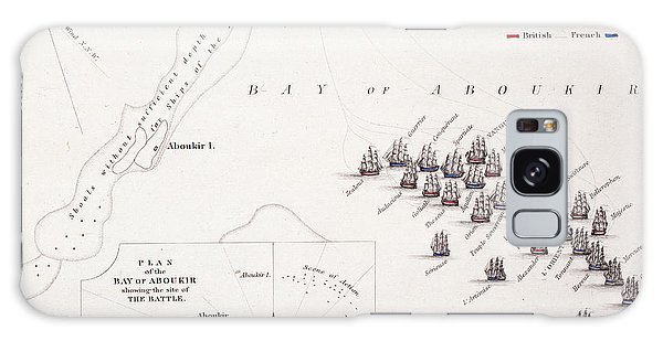 Bay Galaxy Case - Plan Of The Battle Of The Nile by Alexander Keith Johnston