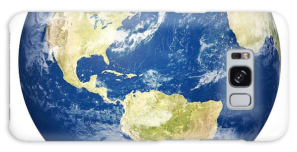 Usa Map Galaxy Case - Planet Earth On White - America by Johan Swanepoel