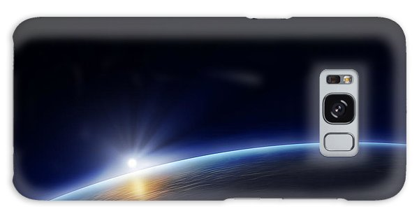 Bright Sun Galaxy Case - Planet Earth With Rising Sun by Johan Swanepoel