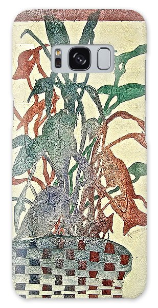 Planted Silhouettes Galaxy Case by Carolyn Rosenberger