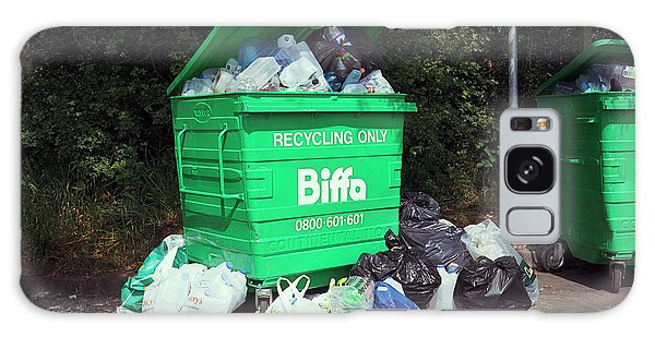 Rubbish Bin Galaxy Case - Plastic Recycling by Robert Brook/science Photo Library