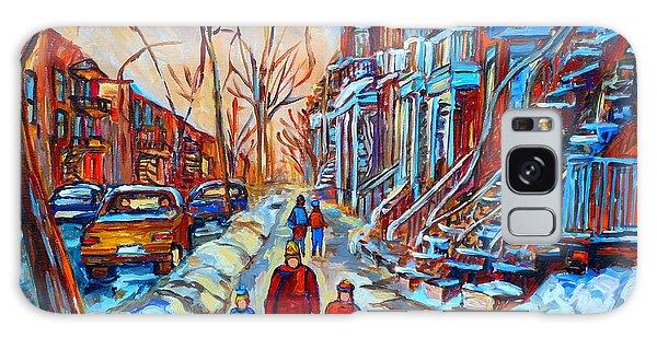 Plateau Montreal Street Scene Galaxy Case