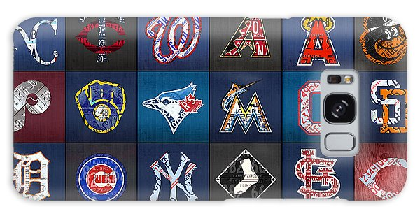 Play Ball Recycled Vintage Baseball Team Logo License Plate Art Galaxy S8 Case