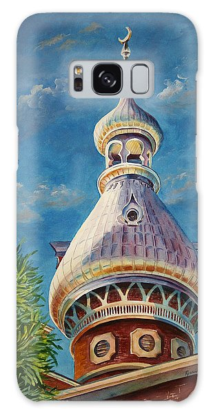 Play Of Light - University Of Tampa Galaxy Case by Roxanne Tobaison