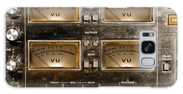 Playback Recording Vu Meters Grunge Galaxy Case by Gunter Nezhoda