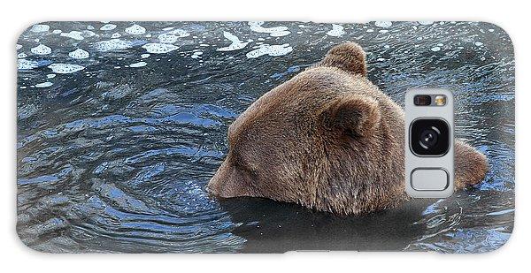 Playful Submerged Bear Galaxy Case