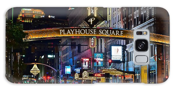 Town Square Galaxy Case - Playhouse Square by Frozen in Time Fine Art Photography